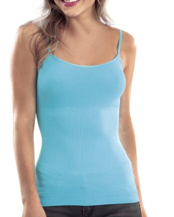 Camiseta reductora seamless de control medio con pabilos. Disponible en variedad de colores.
